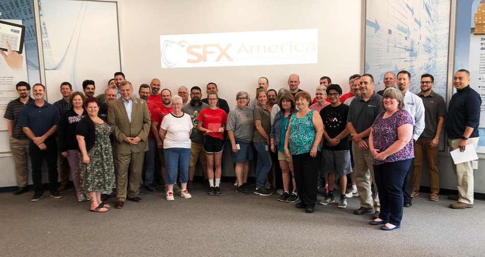 Peter Kowalczuk, President of Canon Solutions America, and the SFX team.