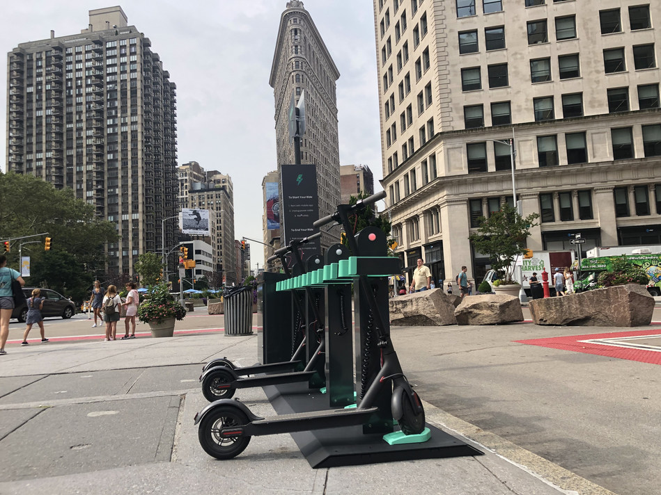 """GetCharged, Inc. (""""Charge""""), a micromobility company dedicated to building the largest network of electric charging, storage, and service stations for e-scooters and e-bikes, today unveiled New York City's first-of-its-kind docking station in Worth Square."""