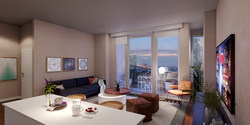 One-bedroom apartment home at 500 Folsom in San Francisco.