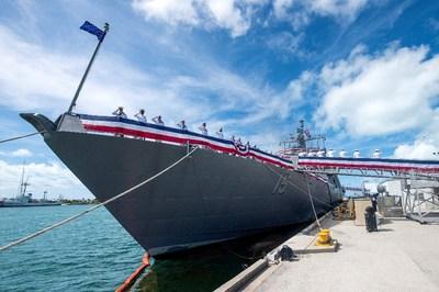 Billings (LCS 15) enters active service in the U.S. Navy fleet.