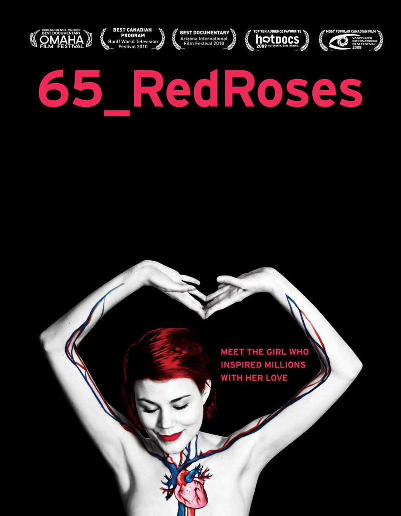 A special 10th anniversary screening of 65_RedRoses, with speakers and special musical guests, will take place on September 8, 2019 in Vancouver. (CNW Group/65_RedRoses)