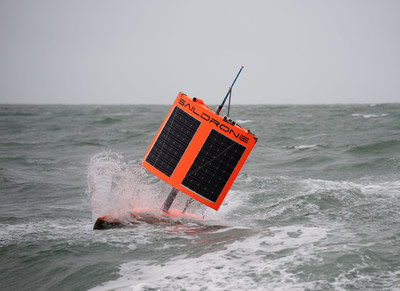 Saildrone SD-1020 finishing the first Unmanned Circumnavigation of Antarctica near Bluff, New Zealand. This new type of wind and solar-powered autonomous ocean vehicle designed by Saildrone, Inc. of California is designed to collect valuable scientific data from the harshest oceans around the world and help improve the understanding of our planet.