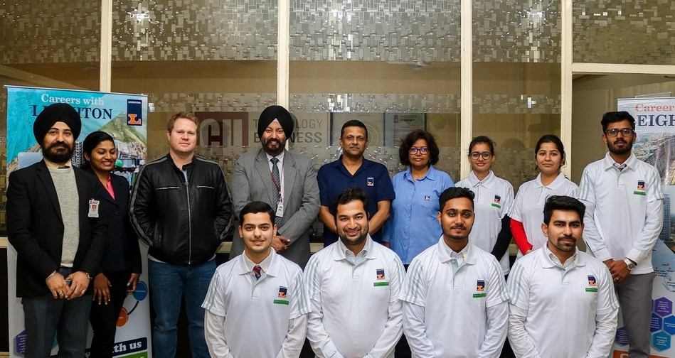 Officials of International firm Leighton along with selected Civil Engineering students of Chandigarh University