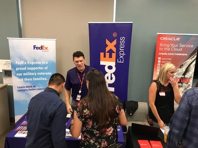 Wounded veterans engage with employers at a recent Camp Pendleton networking event organized by Wounded Warrior Project® (WWP).