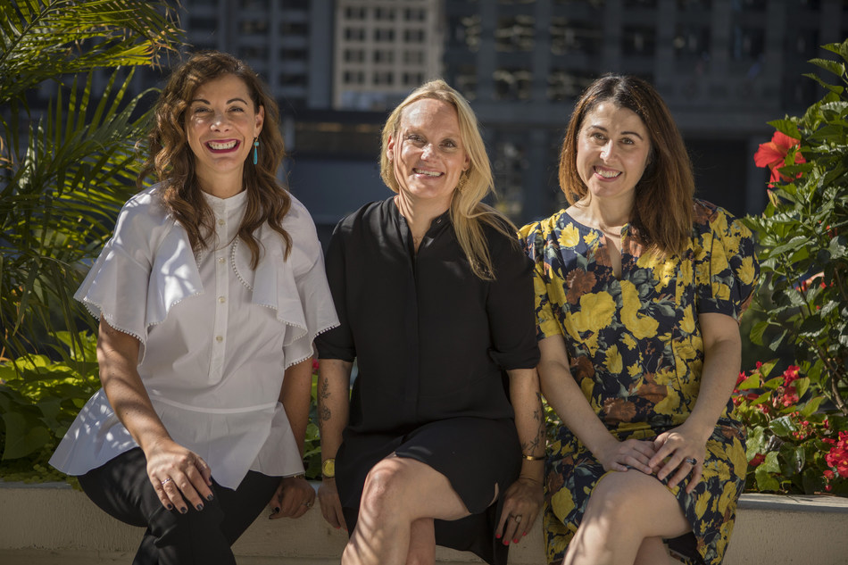 Jordan Doucette was elevated to the role of chief creative officer of Leo Burnett Chicago. She reports into Leo Burnett Chicago President and Chief Strategy Officer Emma Montgomery and Leo Burnett Worldwide Chief Creative Officer Liz Taylor. (L-R Taylor, Doucette, Montgomery)