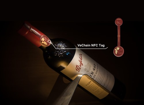 Penfolds 407 with VeChain N.F.C. Tag Attached