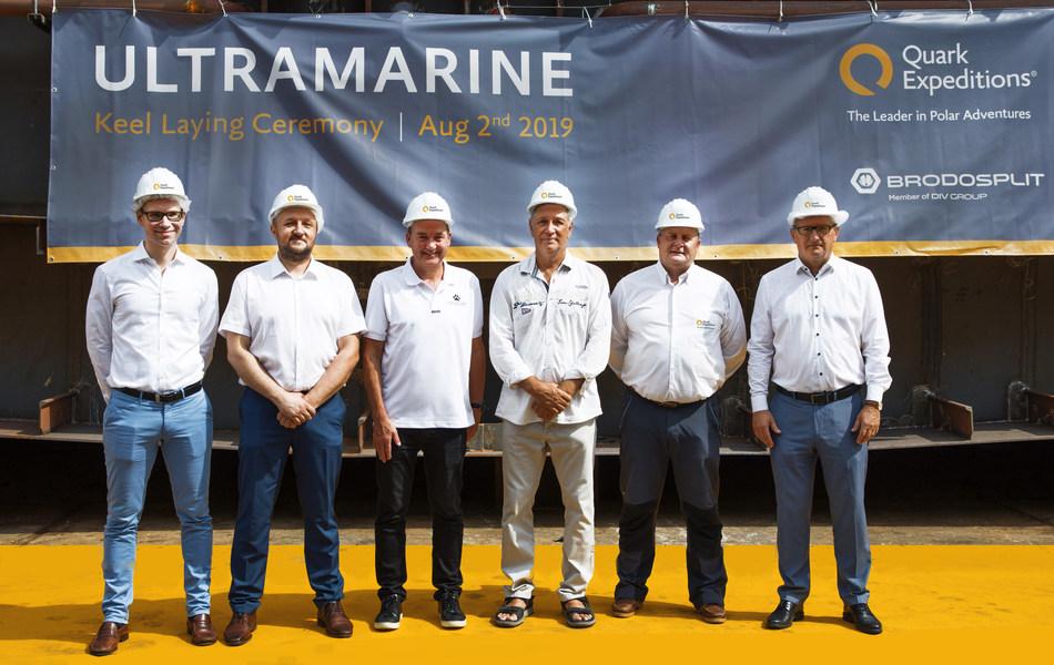From Left to Right: Joerg Metzner (KKR), Tomislav Debeljak (Brodosplit), Andy Duncan (Travelopia), Don Marshall (Brodosplit), Malcolm Ellis (Quark Expeditions), Darko Pappo (DIV Group)