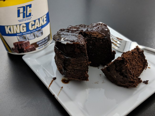 A high-protein, low-calorie cake snack from Ronnie Coleman Signature Series, ready in under 90 seconds.