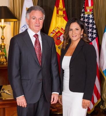 Dionisio Gutiérrez se reúne con Leslie Alessandra en Guatemala