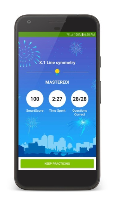 The IXL Android phone app features IXL's complete curriculum of more than 8,000 skills across math, English language arts, science, social studies and Spanish.