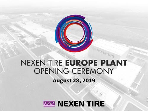Nexen Tire va tenir une inauguration pour sa nouvelle usine européenne en République tchèque (PRNewsfoto/Nexen Tire)