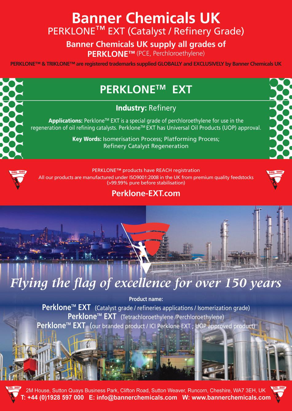 PERKLONE™ EXT Catalyst , Isomerization Grade Banner Chemicals UK