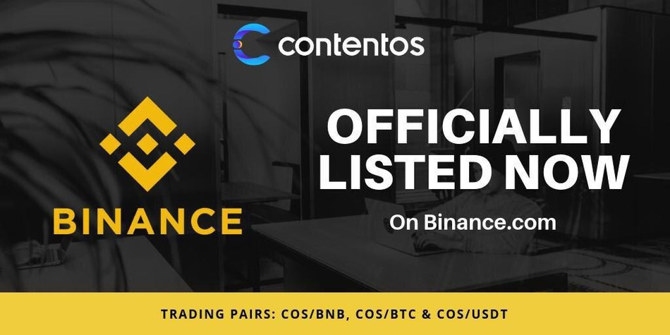 Contentos listed on Binance