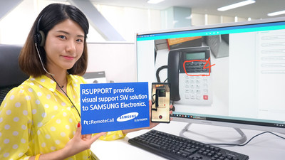 Visual Support and RemoteCall supplied to Samsung Electronics allow customer support agents to assist customers via their mobile device cameras without installing an app