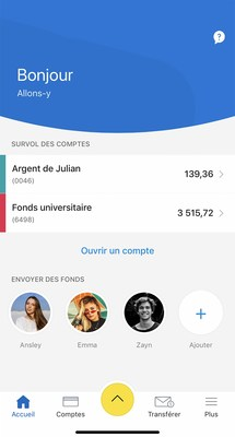 Tableau de bord iOS pour RBC Mobile Student Edition (Groupe CNW/RBC Banque Royale)