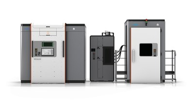 The DMP Factory 500 solution is a scalable manufacturing system designed to help metal manufacturers simplify their workflow to build higher quality seamless metal parts up to 500 mm x 500 mm x 500 mm with lower total cost of operation.