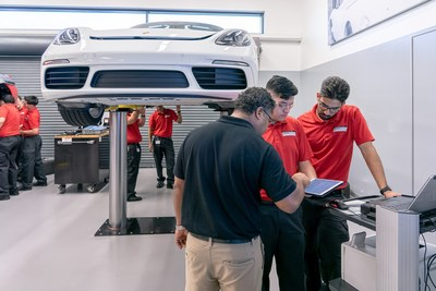 Traditional hands-on skills are taught alongside modern hi-tech components. Photo: Porsche Cars North America, Inc.