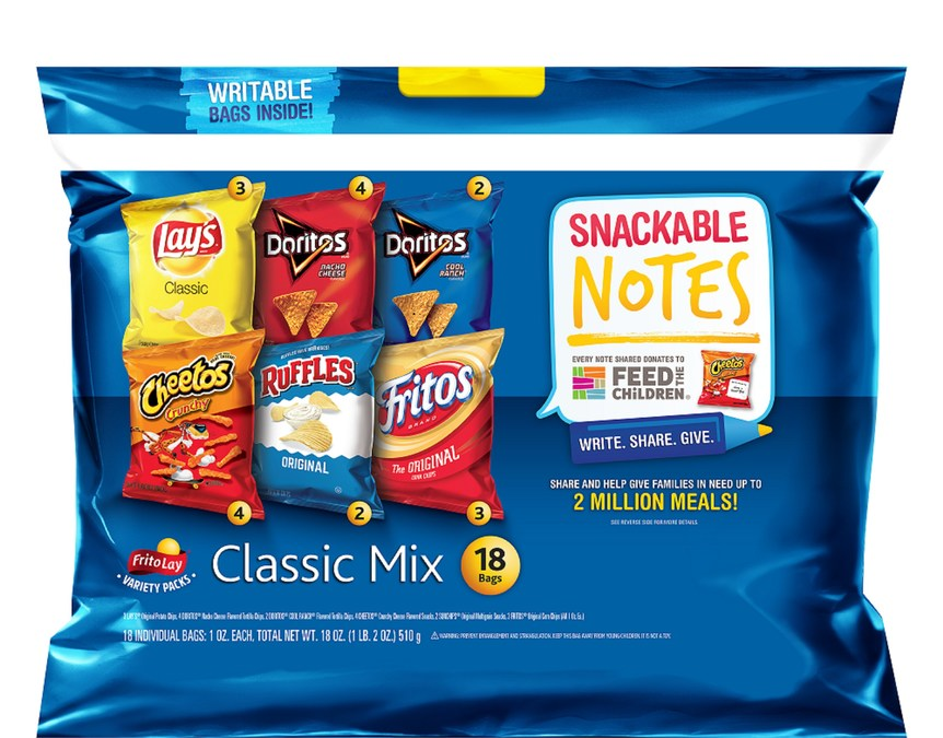 Frito-Lay Variety Packs Snackable Notes To Benefit Feed The