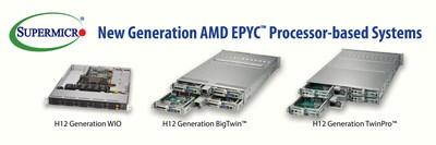 Supermicro agora oferece sistemas baseados em processadores AMD EPYC(TM) Série 7002