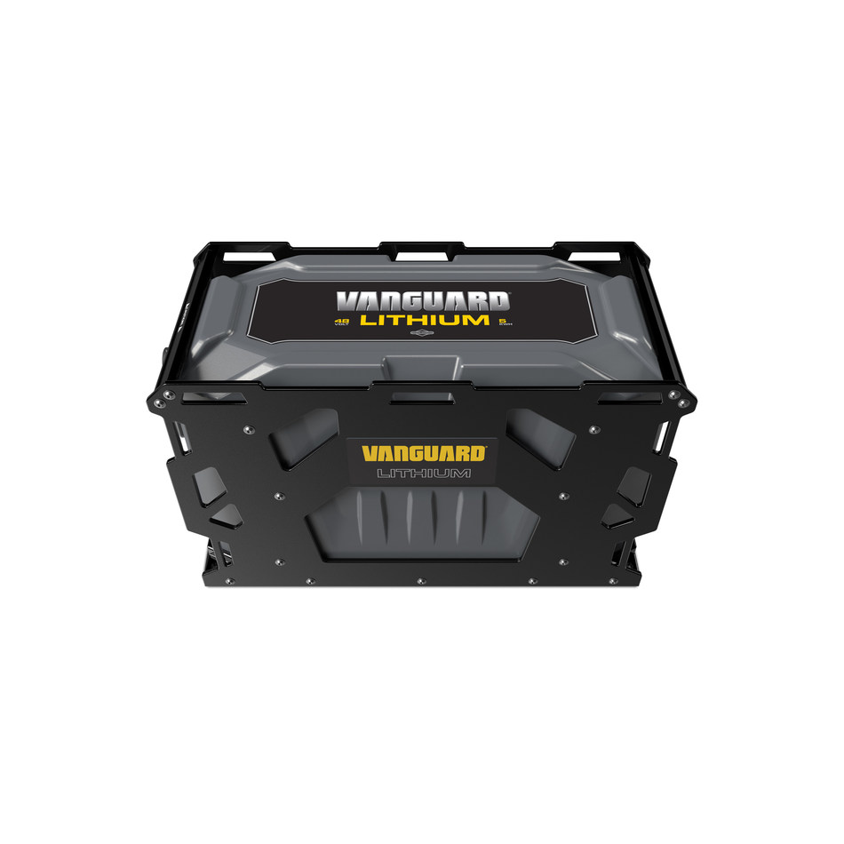 The new 48-volt Vanguard® Commercial Battery system will be first available in 5kWh form and can be combined for additional capacity to power up to 20kWh.