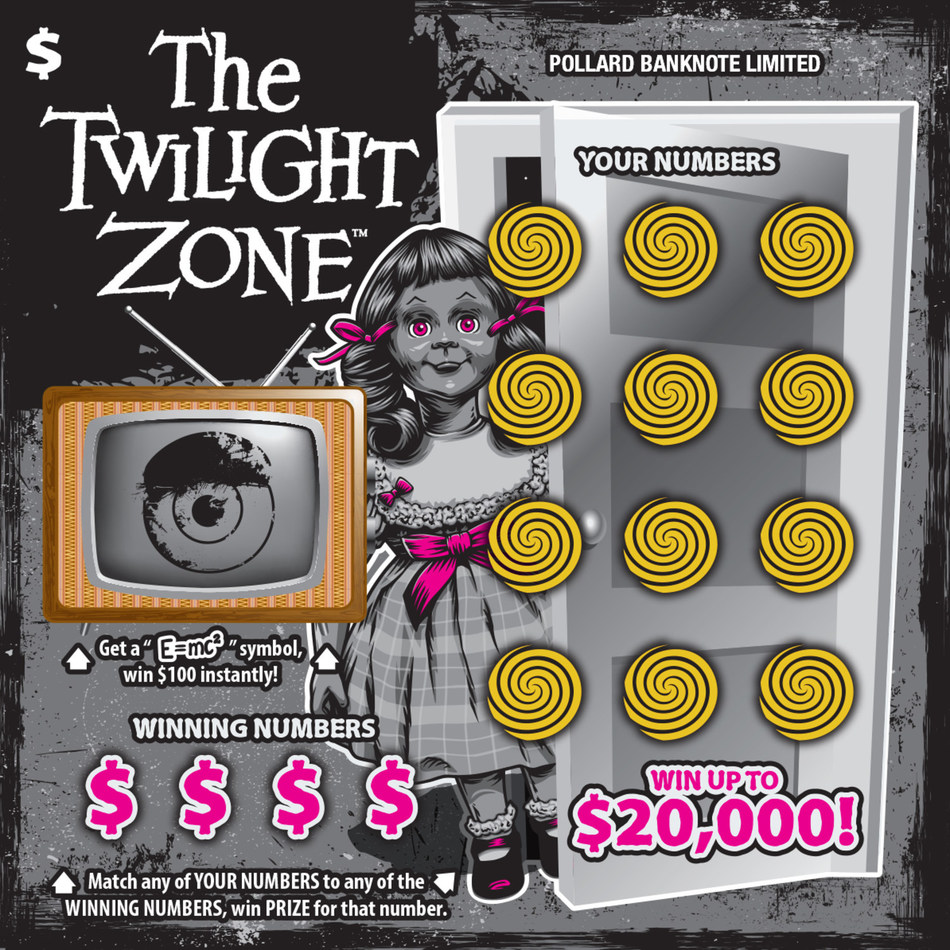 Instant ticket featuring The Twilight Zone™ (CNW Group/Pollard Banknote Limited)