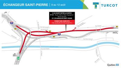 2-Entraves - Échangeur Saint-Pierre (Groupe CNW/Ministère des Transports)