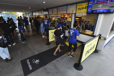 The Los Angeles Dodgers today named Postmates, the leader in enabling anyone to have anything on-demand, as their exclusive On-Demand Delivery and Pickup Partner, and announced that they will incorporate Postmates Live into the concession stands at Dodger Stadium. With Postmates Live, fans will be able to place their Dodger Stadium concessions order from their seats and pick it up when ready at designated Postmates Pickup locations, with no added fees.