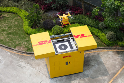 Cooperated with DHL-Sinotrans, EHang conducted Smart Drone Delivery Solution in Guangdong Province, China (PRNewsfoto/EHang Holdings Limited)