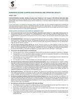 ShaMaran 2019 Q2 Results (CNW Group/ShaMaran Petroleum Corp.)