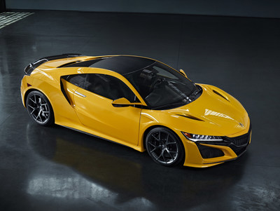 2020 Acura NSX Debuts Indy Yellow Pearl Heritage Color at Monterey Car Week