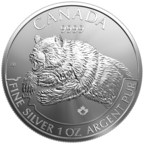 Royal Canadian Mint Continues Wildly Popular Bullion Series with Grizzly Theme on New 9999 Pure Silver Coin