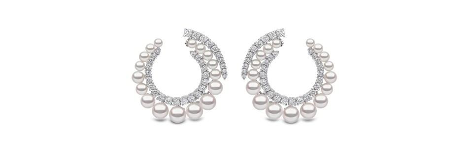 Pearl earrings by Yoko London