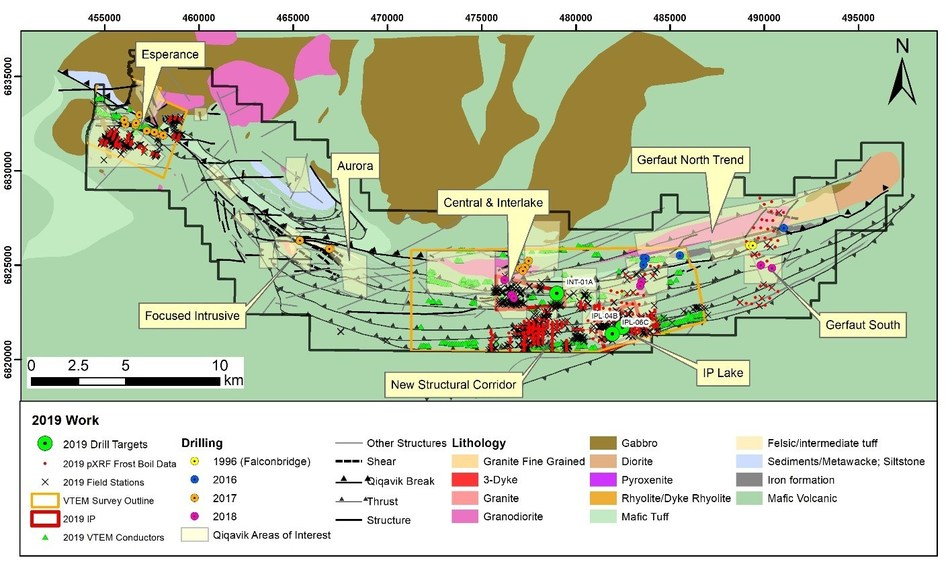Figure 1: Overview of 2019 Work Completed at Qiqavik (CNW Group/Orford Mining Corporation)