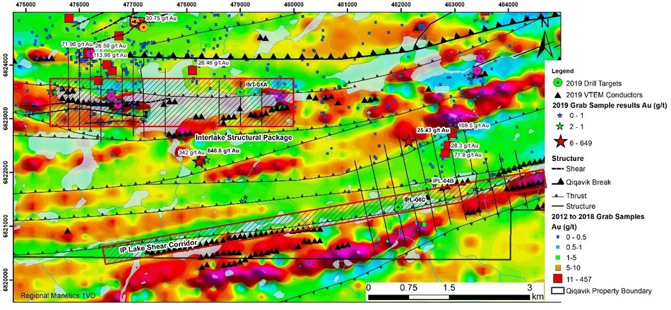 Figure 2: Interlake Structural Package and IP Lake Shear Corridor (Ice direction is SW to NE) (CNW Group/Orford Mining Corporation)