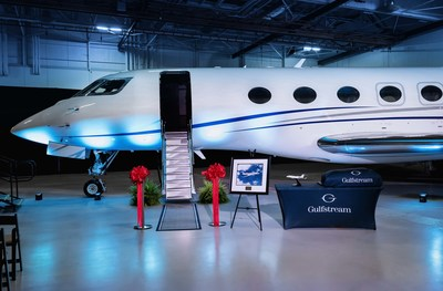The first Gulfstream G600 business jet was delivered to a customer at the company's headquarters in Savannah, Georgia.