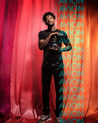 """Tequila Avión x 21 Savage For """"Depart. Elevate. Arrive"""" Campaign"""