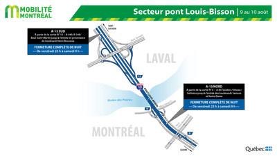 Pont Louis-Bisson, vendredi 9 août (Groupe CNW/Ministère des Transports)