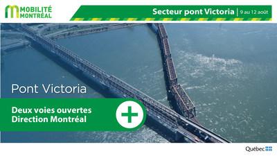 Mesures d'atténuation pont Victoria FDS du 9 août (Groupe CNW/Ministère des Transports)
