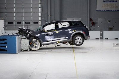 Hyundai NEXO Fuel Cell SUV is the First Production Fuel Cell to be Crash Tested by IIHS in the U.S.