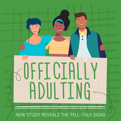 """NEW Survey Reveals Top Signs of """"Adulting."""" More at FarmRich.com"""