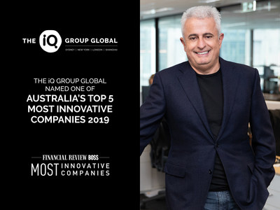 The iQ Group Global named one of Australia's Top 5 Most Innovative Companies 2019 Chief Executive Officer of The iQ Group Global, Dr George Syrmalis