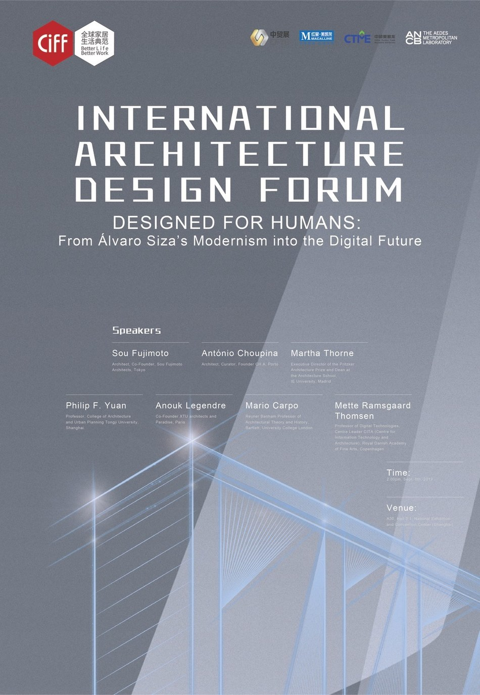 "The 44th CIFF Shanghai will host an international architecture design forum themed ""Designed for Humans: From Alvaro Siza's Modernism into the Digital Future"""