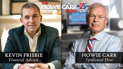 """Kevin Frisbie, President and Founder of Frisbie Benefits, is announced as the Exclusive Financial Commentator for """"The Howie Carr Show"""", airing in 25 markets throughout New England."""