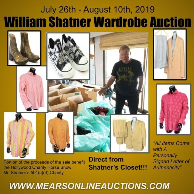 Check out the great items direct from Shatner's Closet