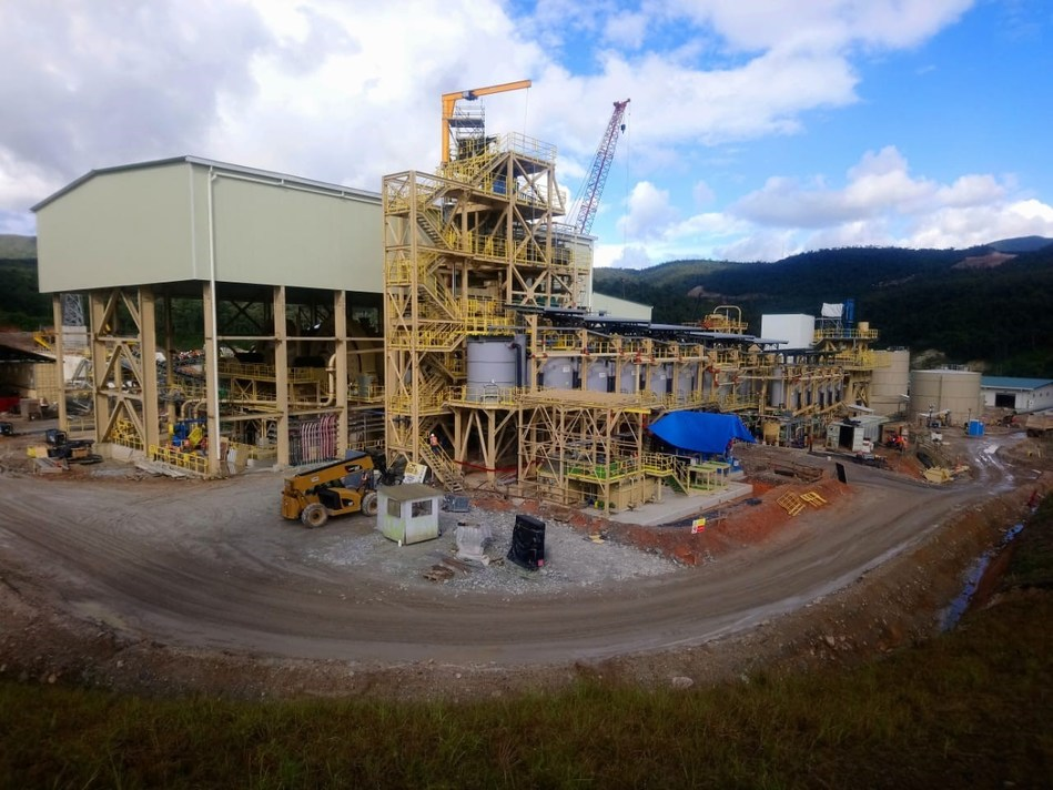 Figure 1. Grinding circuit and flotation circuit construction nearing completion (CNW Group/Lundin Gold Inc.)