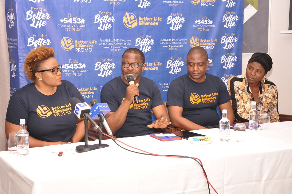 L-r: Funke Adekola, Business Director, Dare Create, Celestine Achi, Director General, BLB Promo, Kenneth Shanki, Product Manager, Payment Solution, MTech Communications Ltd and Simisola Munire, Senior Legal Officer, Lagos State , at the media unveiling of the Better Life Billionaires Promo in Lagos weekend.