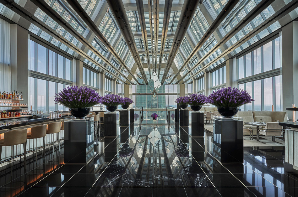 Step into the sky-lobby on level 60 of Four Seasons Hotel Philadelphia, the tallest situated hotel in North America.