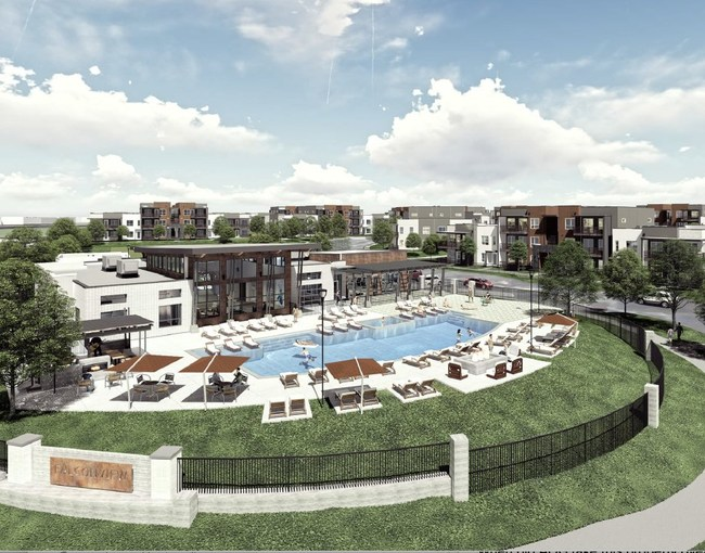The beautiful amenities area at FalconView Apartments in Colorado Springs, slated to open October of 2019
