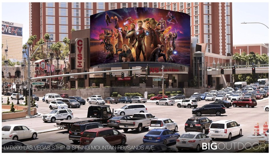 Victory Hill Exhibitions Launches 2nd Largest LED Digital Display Along Las Vegas Strip (PRNewsfoto/Cityneon Holdings Limited)