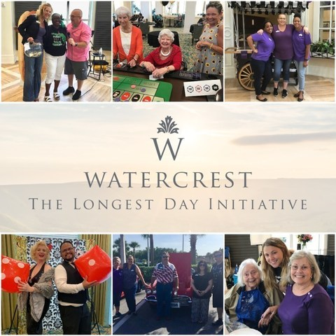 Watercrest Senior Living Group raises awareness of the Alzheimer's Association's Global Initiative: The Longest Day with unique fundraising events in each of their senior living communities.